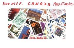 CANADA -  300 DIFFÉRENTS TIMBRES - CANADA - 1980 ET MOINS