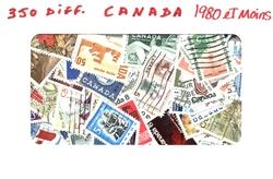 CANADA -  350 DIFFÉRENTS TIMBRES - CANADA - 1980 ET MOINS