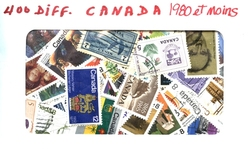 CANADA -  400 DIFFÉRENTS TIMBRES - CANADA - 1980 ET MOINS