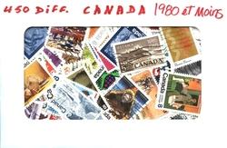 CANADA -  450 DIFFÉRENTS TIMBRES - CANADA - 1980 ET MOINS