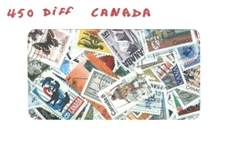 CANADA -  450 DIFFÉRENTS TIMBRES - CANADA
