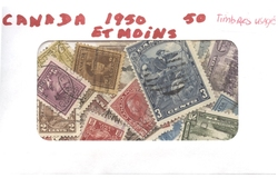 CANADA -  50 DIFFÉRENTS TIMBRES - CANADA - 1950 ET MOINS