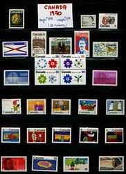 CANADA -  ANNÉE COMPLÈTE 1970, 28 TIMBRES NEUFS