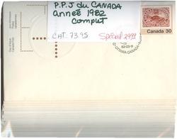CANADA -  ANNÉE COMPLÈTE 1982, 29 PLIS PREMIER JOUR