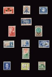 CANADA -  ANNÉES COMPLÈTES 1959 À 1961, 13 TIMBRES USAGÉS