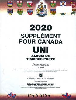 CANADA UNI -  SUPPLÉMENT 2020 (FRANÇAIS) (SANS POCHETTES)