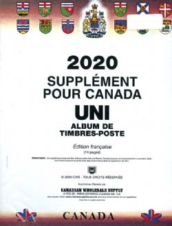 CANADA UNI -  SUPPLÉMENT 2020 (FRANÇAIS)