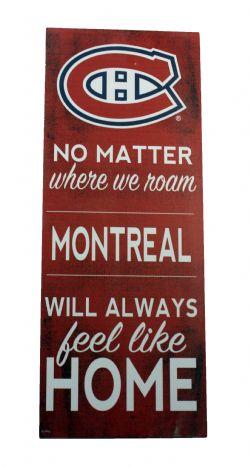 CANADIENS DE MONTRÉAL -  AFFICHE EN BOIS