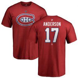 CANADIENS DE MONTRÉAL -  JOSH ANDERSON #17 - ROUGE