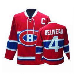 CANADIENS DE MONTRÉAL -  RÉPLIQUE CHANDAIL - JEAN BELIVEAU #4 - ROUGE