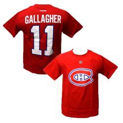 CANADIENS DE MONTRÉAL -  T-SHIRT BRENDAN GALLAGHER #11 ROUGE (ADOLESCENT)