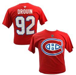 CANADIENS DE MONTRÉAL -  T-SHIRT JONATHAN DROUIN #92 ROUGE