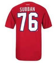 CANADIENS DE MONTRÉAL -  T-SHIRT P.K. SUBBAN #76 ROUGE (JEUNE ENFANT)