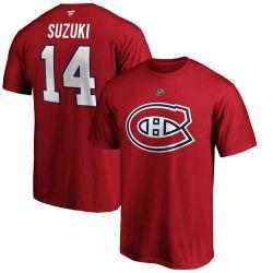 CANADIENS DE MONTRÉAL -  T-SHIRT- ROUGE 14 -  NICK SUZUKI