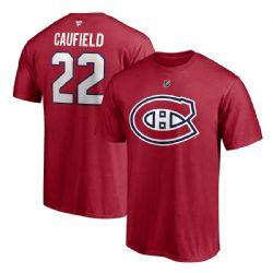 CANADIENS DE MONTRÉAL -  T-SHIRT- ROUGE 22 -  COLE CAUFIELD