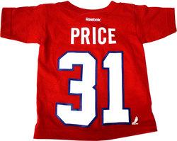 CANADIENS DE MONTRÉAL -  T-SHIRT ROUGE CAREY PRICE #31 (JEUNE ENFANT)