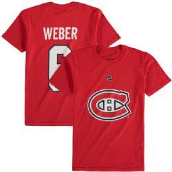 CANADIENS DE MONTRÉAL -  T-SHIRT SHEA WEBER #6 - ROUGE (ADOLESCENT)