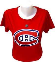 CANADIENS DE MONTRÉAL -  T-SHIRT SUBBAN #76 ROUGE (FEMME)
