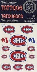 CANADIENS DE MONTREAL -  TATOUAGES TEMPORAIRES (PAQUET DE 26)