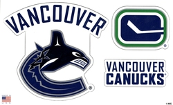 CANUCKS DE VANCOUVER -  ENSEMBLE D'AIMANTS