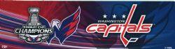 CAPITALS DE WASHINGTON -  AUTOCOLLANT DE PARE-CHOC CHAMPIONS COUPE STANLEY 2018