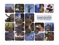 CARTE DE COLLECTION - VANCOUVER, COLOMBIE-BRINNATIQUE -  PIÈCES DU CANADA 2011