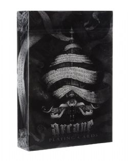 CARTE FORMAT POKER -  ARCANE - NOIR (INDEX REGULIER) -  ELLUSIONIST