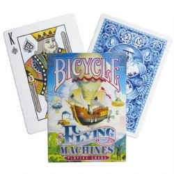 CARTE FORMAT POKER -  FLYING MACHINES - BLEU (INDEX RÉGULIER)