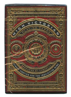 CARTES FORMAT POKER -  BICYCLE THEORY 11 - HIGH VICTORIAN (ROUGE)