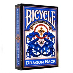 CARTES FORMAT POKER -  DRAGON BACK - BLUE