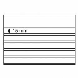CARTES NOIRES 210X148 MM AVEC 5 BANDES - SANS FEUILLE DE PROTECTION (PAQUET DE 50)