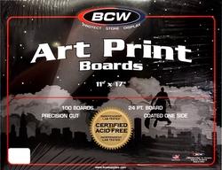 CARTONS -  FORMAT ART PRINT (28 CM X 43 CM)(100) BLANCS DES 2 CÔTÉS
