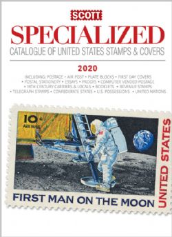 CATALOGUE -  SCOTT CATALOGUE 2020 SPECIALIZED OF UNITED STATES STAMPS AND COVERS