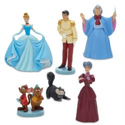 CENDRILLON -  ENSEMBLE DE 6 FIGURINES EN PLASTIQUE (9 CM) -  PRINCESSES DISNEY 02