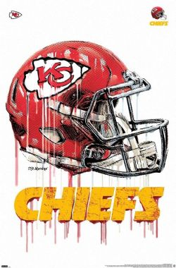 CHIEFS DE KANSAS CITY -  NFL KANSAS CITY CHIEFS - DRIP HELMET 2020-POSTER