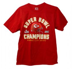CHIEFS DE KANSAS CITY -  SUPER BOWL CHAMPIONS - T-SHIRT - ROUGE