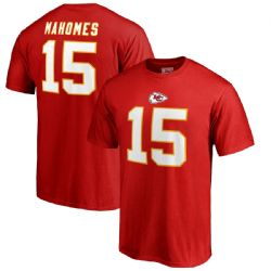 CHIEFS DE KANSAS CITY -  T-SHIRT DE PATRICK MAHOMES #15 - ROUGE