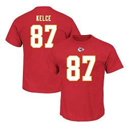 CHIEFS DE KANSAS CITY -  T-SHIRT DE TRAVIS KELCE #87 - ROUGE