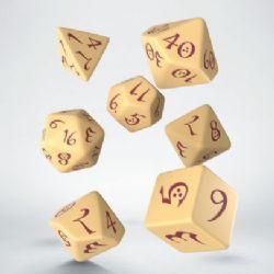 CLASSIC RPG DICE SET -  BEIGE ET BOURGOGNE