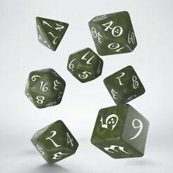 CLASSIC RPG DICE SET -  BLANC ET OLIVE