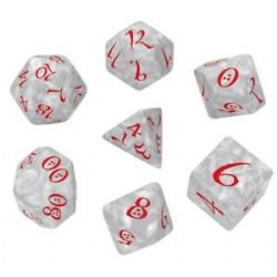 CLASSIC RPG DICE SET -  ROUGE ET PERLE