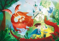 CLEMENTONI -  THE DRAGON AND THE KNIGHT (180 PIÈCES) -  SUPER COLOR