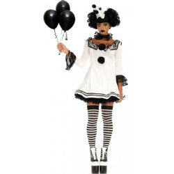 CLOWN -  COSTUME DE CLOWN PIERROT (ADULTE)