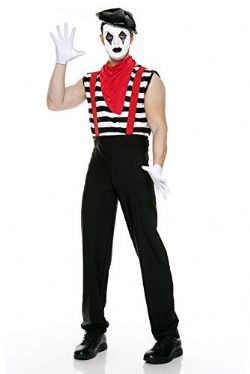CLOWN -  COSTUME DE MIME SILENCIEUX (ADULTE)
