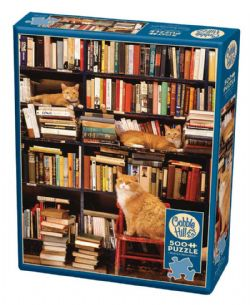 COBBLE HILL -  GOTHAM BOOKSTORE CATS (500 PIÈCES)