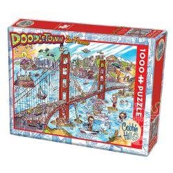 COBBLE HILL -  SAN FRANCISCO (1000 PIÈCES) -  DOODLETOWN