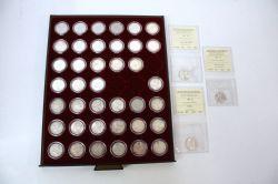 COLLECTIONS COMPLÈTES -  COLLECTION COMPLÈTE DES PIÈCES DE 25 CENTS DE 1933 À 1971 - FINI FINE À MS-63 ET PROOF-LIKE