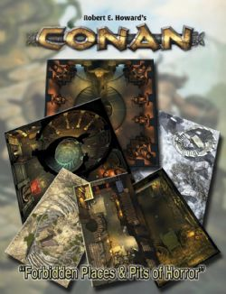 CONAN -  FORBIDDEN PLACES & PITS OF HORROR GEOMORPHIC TILES