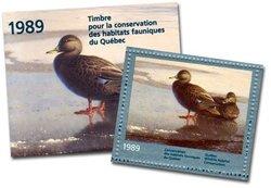 CONSERVATION DES HABITATS FAUNIQUES DU QUEBEC -  CANARDS NOIRS 1989 (NON-SIGNE) 02