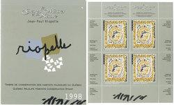 CONSERVATION DES HABITATS FAUNIQUES DU QUEBEC -  L'OIE BLANCHE 1998 - BLOC DE 4 11